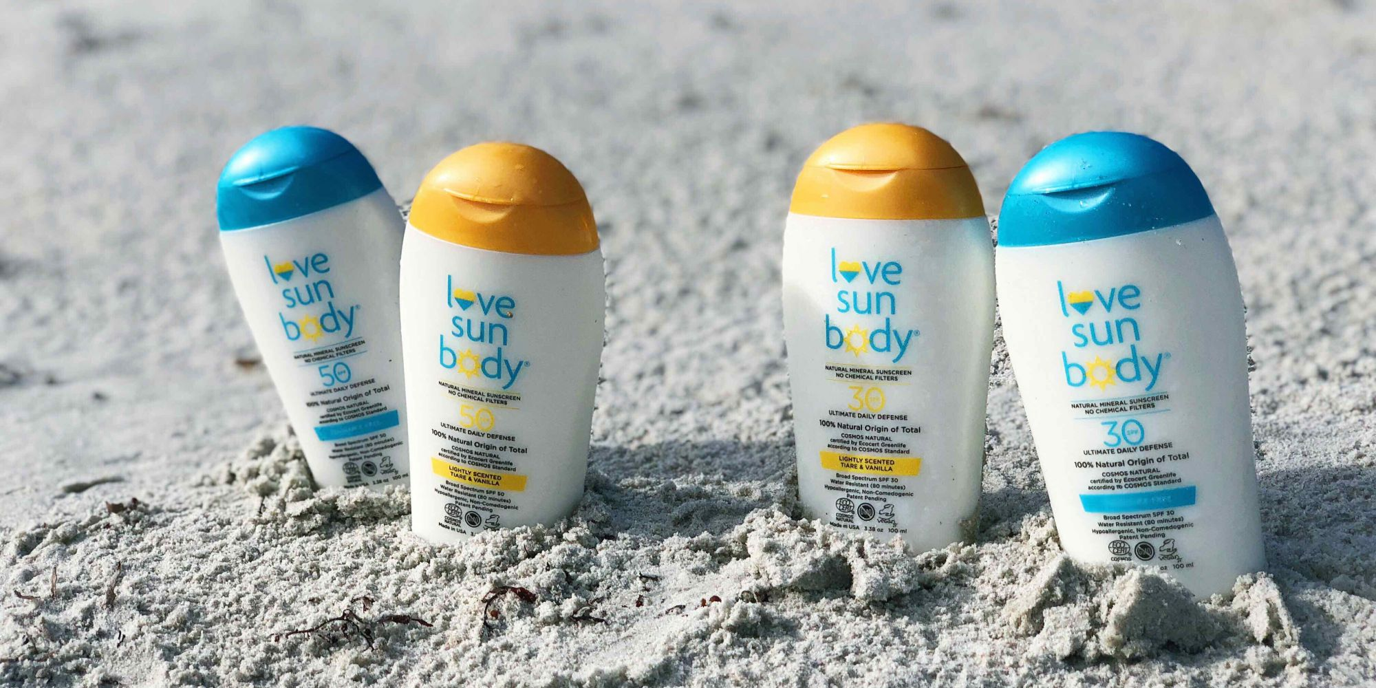 Love Sun Body Gets Bodies And Faces Beach-Ready With Mineral Sunscreens Carrying The EcoCert Cosmos Seal