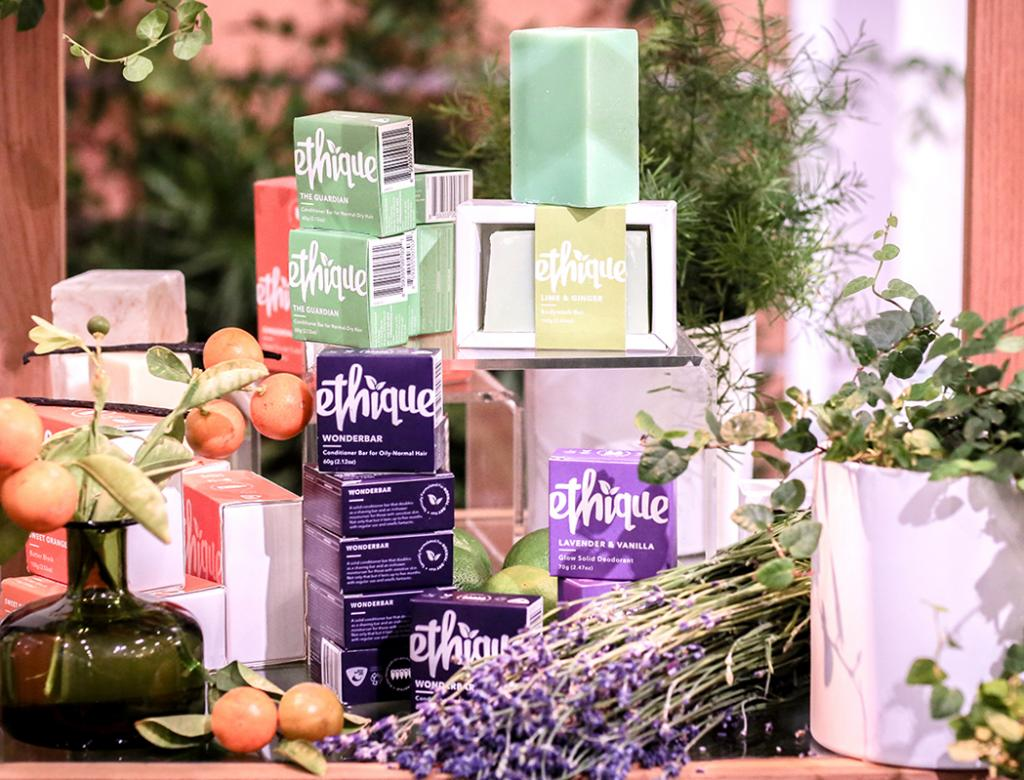 No water, no plastic, no waste: Ethique, like a growing number of indie brands, looks to resolve the last questions around definitions of clean, green and blue. (IBE NY 2018 Biggest Beauty Trends)