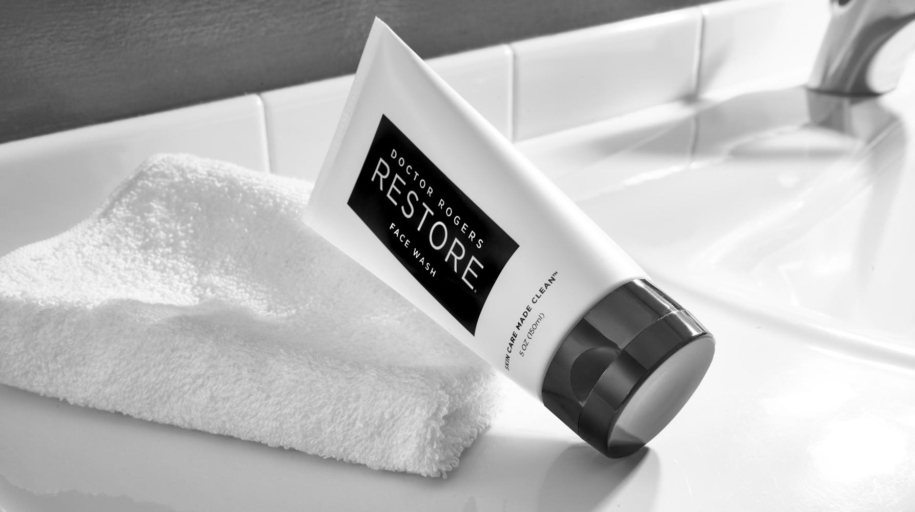 Doctor Rogers Restore Goes From One SKU To Two With The Launch Of Face Wash At Violet Grey