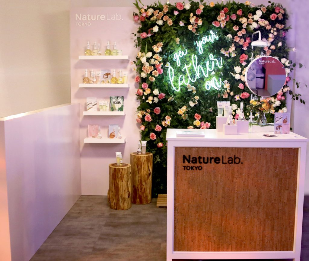 The Tokyo Nature Lab struck a perfect balance between emphasizing the design of its space and design of its products with its IBE LA Trade Show Booth.