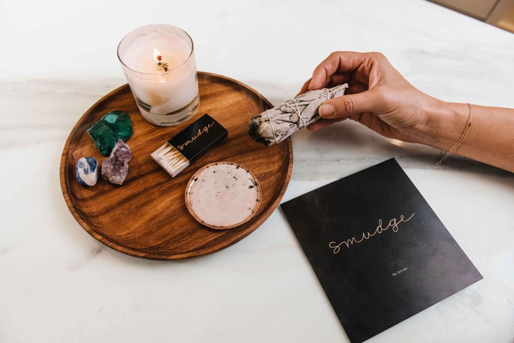 The wellness company Smudge curates boxes with tools for spiritual connection, including smudge bundles, bath and body products, crystals and ingestible treats.