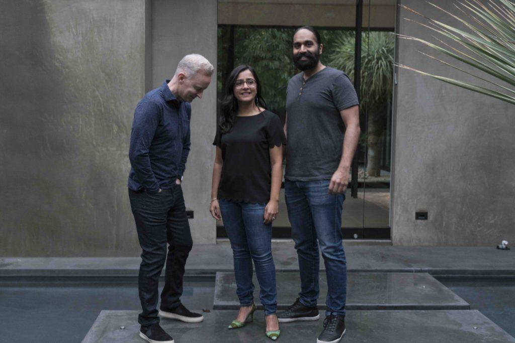 Collective Laboratories co-founders Peter Brack, Sarah Fotis and Kuldeep Singh