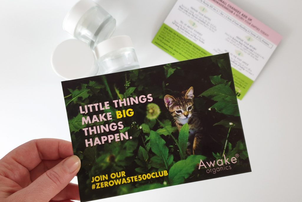 Awake Organics has introduced a zero-waste program that aims to reuse 500 jars to cut carbon dioxide emissions by 4.3 metric tons in 12 months.