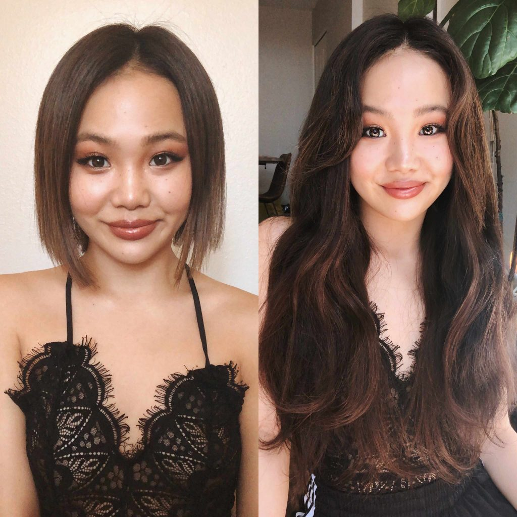 Insert Name Here Hair co-founder Sharon Pak illustrates the transformational nature of the brand's extensions that make them impactful on social media.