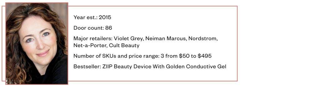 Melanie Simon, Ziip Beauty, Ziip, Ziip Beauty Device with Golden Conductive Gel