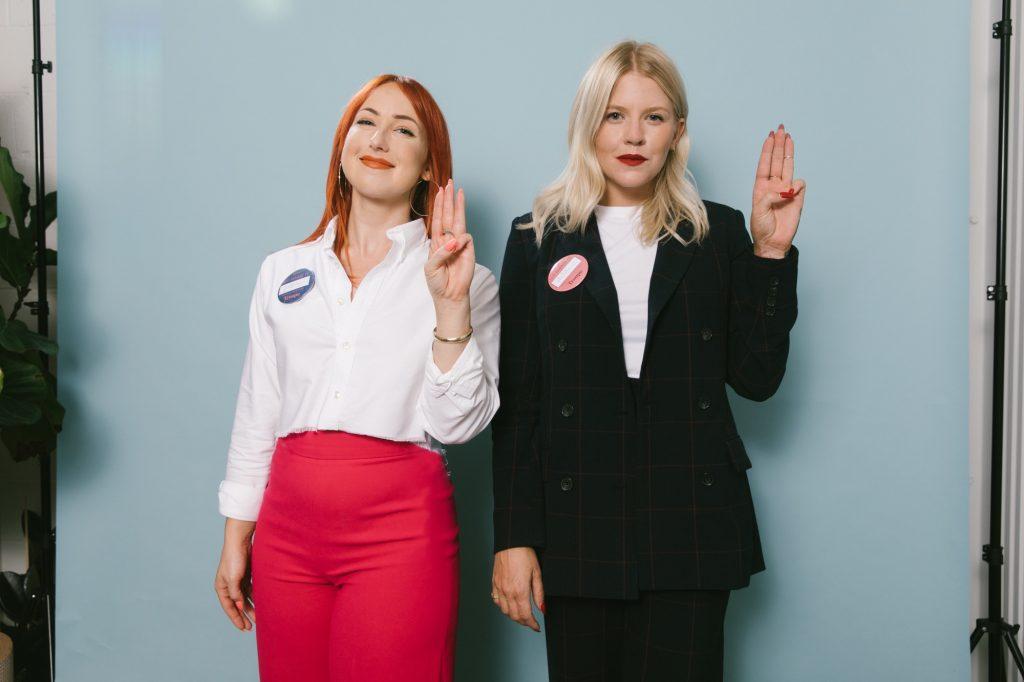 Troupe co-founders Jillian Ouellette and Chelsie Rose Kern