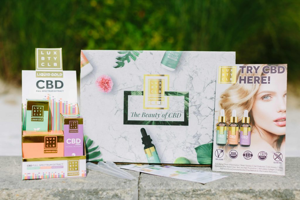 Lux Beauty Club has five stockkeeping units priced from $49 to $98: Orange Awake CBD Oil, Peppermint Peace CBD Oil, Sleeping Beauty CBD Oil, CBD Beauty Butter Body Cream and bestseller CBD Relief Roller.