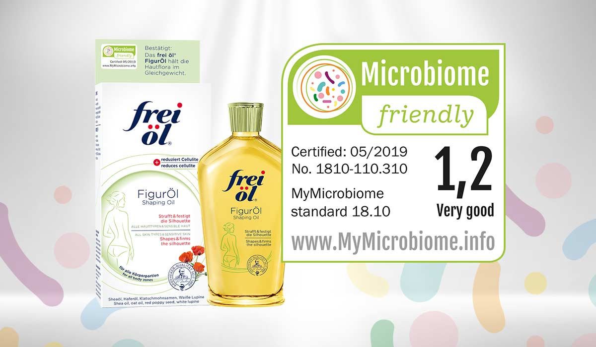 Frei öl is currently the only brand certified by MyMicrobiome, available on the German beauty market.