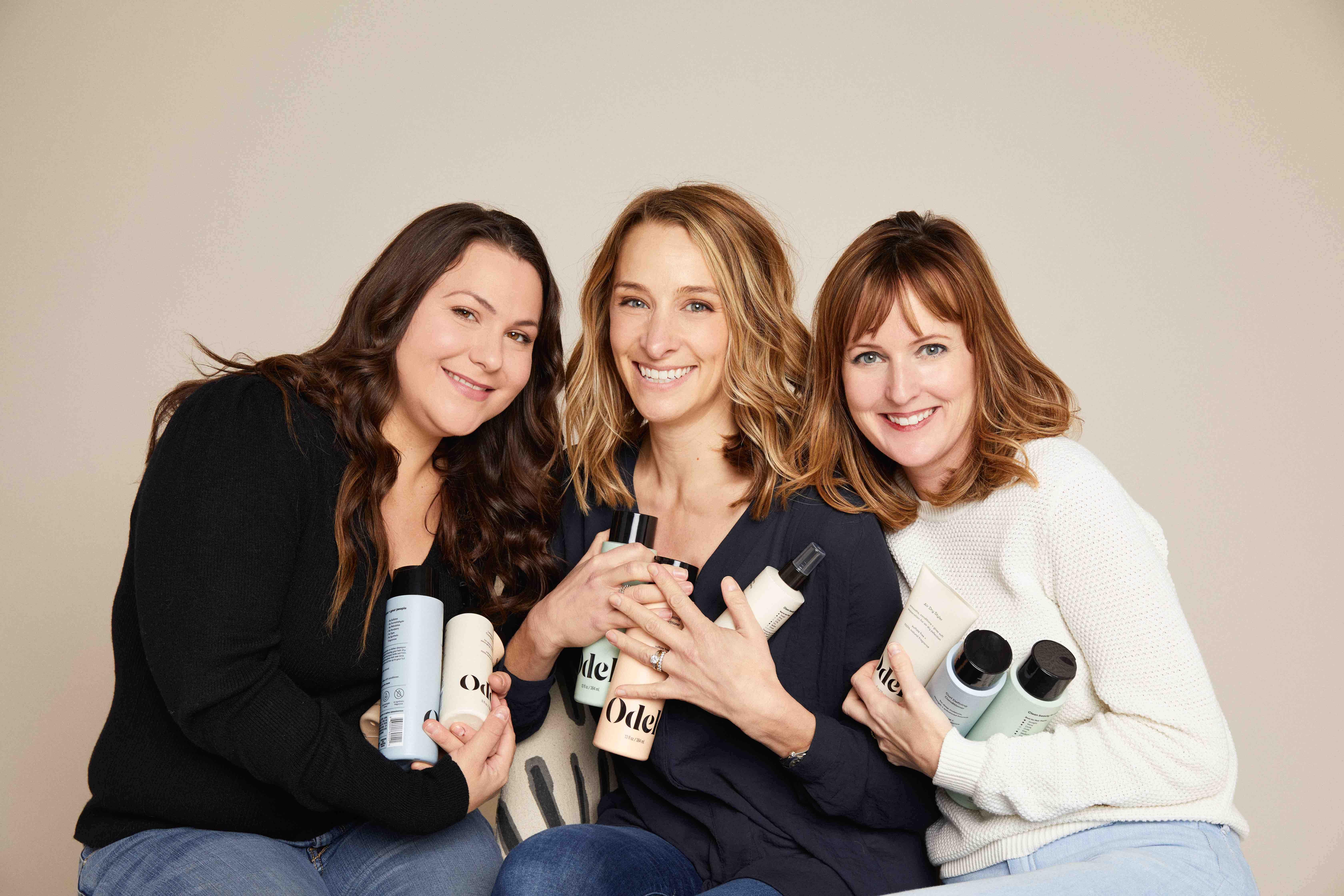 Odele co-founders Shannon Kearney, Lindsay Holden and Britta Chatterjee