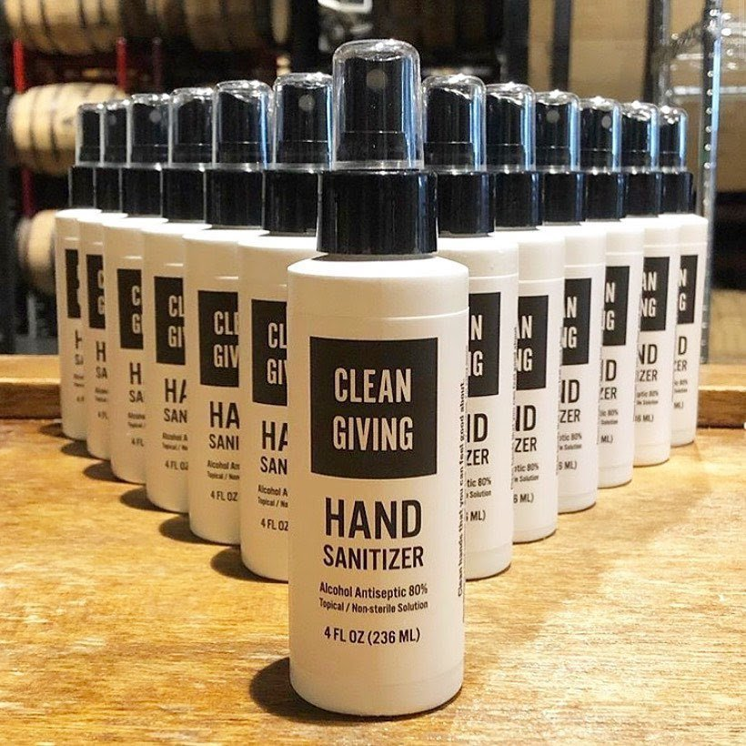 hand sanitizer brand Clean Giving