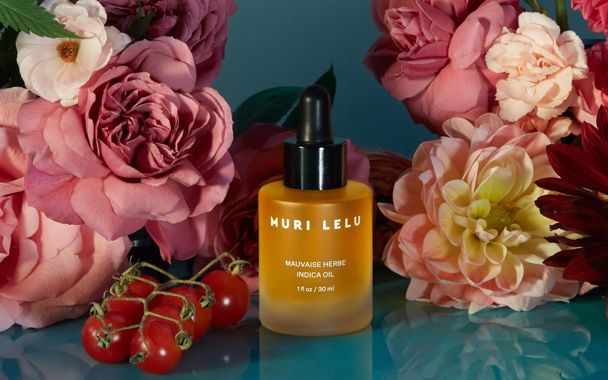 Mauvaise Herbe Indica Night Oil, handcrafted by a perfumer in France, is formulated to mimic the strains and scents of cannabis indica.