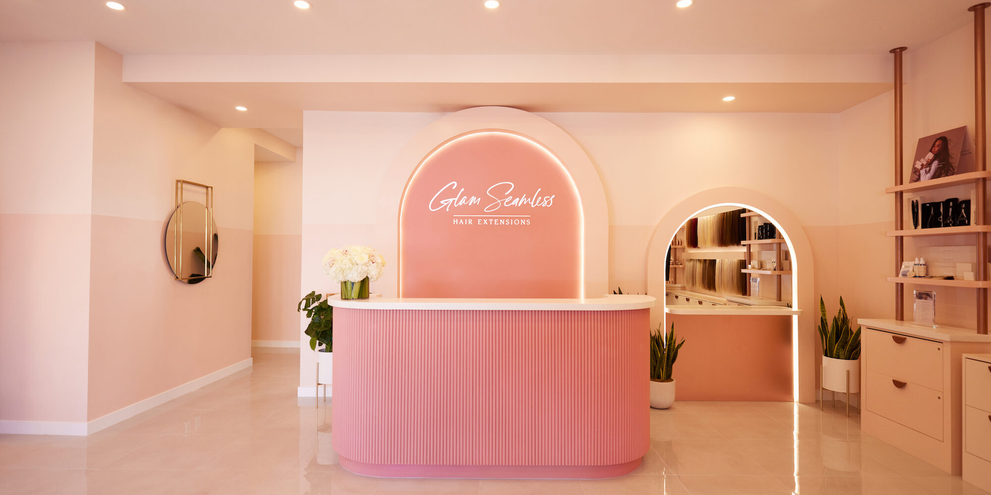 Hair Extensions Brand Glam Seamless Opens West Hollywood Salon